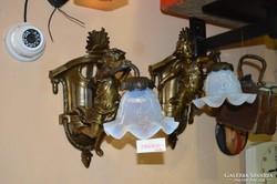Figurális réz falikarok