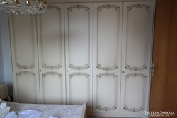 Trüggelmann törtfehér 5 ajtós hálószba vagy gardrob szekrény