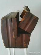 Antik fa bőrönd