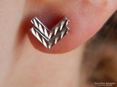 Ezüst divatos fülbevaló