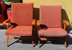 Cseh retro karfás fotelek. Tatra Nabytok.