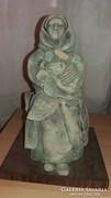 Ülő nő - Szobor