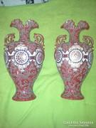 Majolika  egyedi kandalló váza pár
