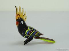 0H900 Muránói üveg kakadu figura