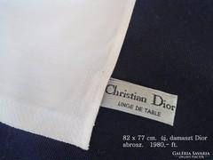 Christian Dior új damaszt abrosz. 82x77 cm.