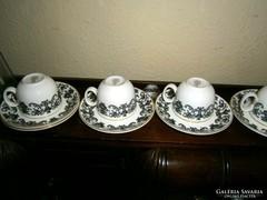 Royal Doutlon angol 6 személyes porcelán kávés készlet