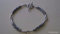 Érdekes ezüst karkötő karlánc 925