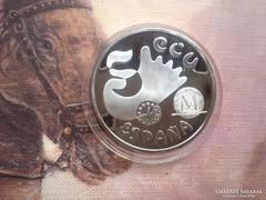 Spanyol ECU unciás ezüst érme 34 gramm 0,925 PP