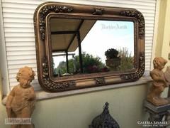 Antik bútor, aranyozott Biedermeier tükör.