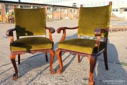 Antik ónémet oroszlánkörmös, karfás székek!