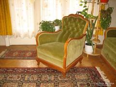 Neobarokk garnitúra 2 szekrény 4 fotel asztal rekamié eladó