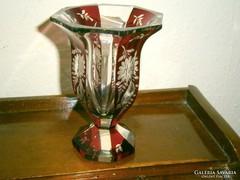 Rétegelt csiszolt üveg- kehely váza
