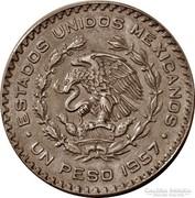 Mexikói ezüst 1 peso 1957