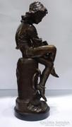 A fiatal Kolumbus Kristóf bronz