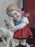 Antik Sitzendorf porcelán