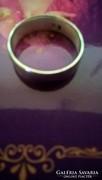 Ezüst karika gyűrű, egyszerű, letisztult