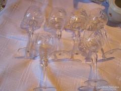 Kristály pohár   6 darab