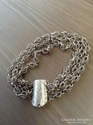 Régi filigrán ezüstözött karkötő