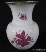 Q513 Lila Apponyi virágos herendi porcelán váza