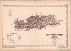 Torda - Aranyos - megye közigazgatási térkép 1880, vármegye