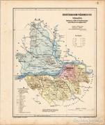 Esztergom vármegye térkép 1905, eredeti