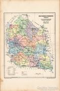 Bács - Bodrog - vármegye térkép 1905, eredeti