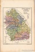 Hunyad - vármegye térkép 1905, eredeti