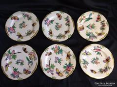 Antik Herendi Viktória mintás sütis tányér (6db)
