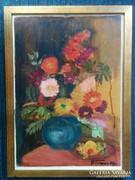 Régi, szignózott festmény 42x31 cm