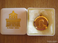 Vatikáni emlék medál II. János Pál pápa