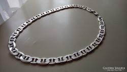 Ezüst Gucci fazonú széles, dekoratív nyaklánc.  137.5 gr.