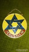Jerusalem tűzzománc plakett
