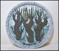 Kaktuszok -  M. Kiss Katalin zsűrizett samott falitál