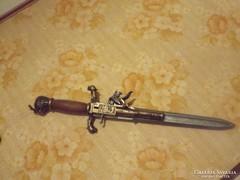Pisztoly tőr fegyver dísz bajonett XIV századi
