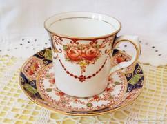 Jelzett,angol Salisbury Bone China, kézi festésű kávés szett
