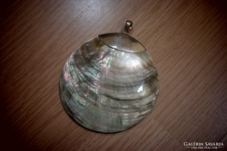Óriás kagylós medál ezüst foglalással