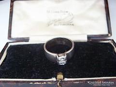 Dupla cirkónia köves ezüst gyűrű