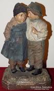 Antik terracotta szobor Johann Maresch 1906