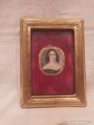Miniatűr festmény portré