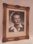 Üvegezett blondel képkeret , falc 39x29 cm
