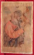 Jézus keresztel - nagyon régi akvarell mű