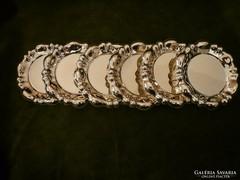 6 db ezüst alátét