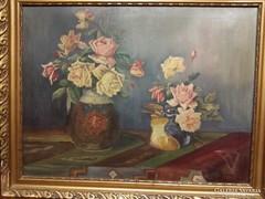 Ziffer Sándor (1880-1962)- rózsás csendélet