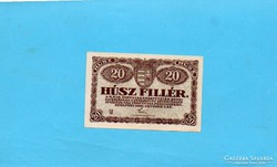 Hajtatlan aUNC 20 Fillér 1920