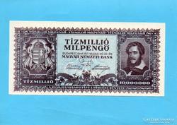 Hajtatlan aUNC Tízmillió Milpengő 1946