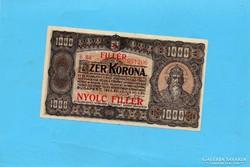 1 X Hajtott 1000 Korona 1923 8 Fillér Fb