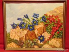 Vadvirágok a sziklán - régi nyomat a 70-es évekből