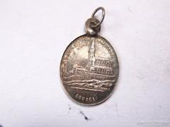 Antik Francia ezüst imádságos medál.