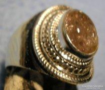 925 ezüst gyűrű pink turmalinnal 18,7/58,7 mm