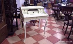Barokk íróasztal, írószekreter fehér